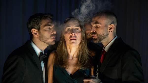 La compañía La Trapecista Autómata interpreta una escena de la obra
