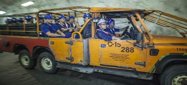 Mineros de KGHM Polska Miedz