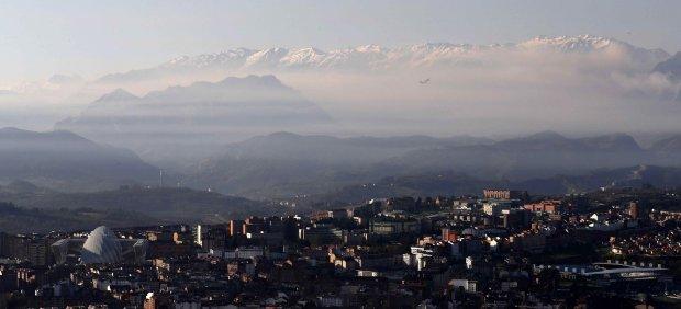 Cielo contaminado en Oviedo