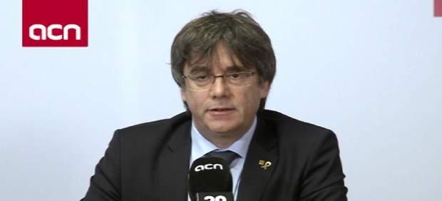Puigdemont prevé recoger el acta si es elegido.