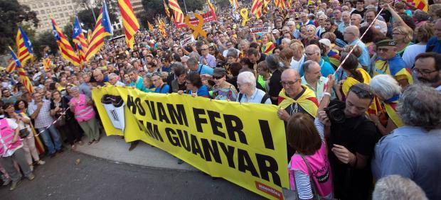 Marchas por el 1-o en Cataluña