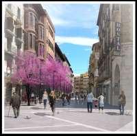 Las obras de reurbanización del Coso Bajo de Huesca se retomarán el próximo día 7 de enero
