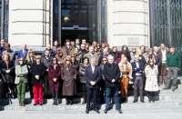 Acc.Diputados y trabajadores de la DPZ rinden homenaje a las 150 víctimas