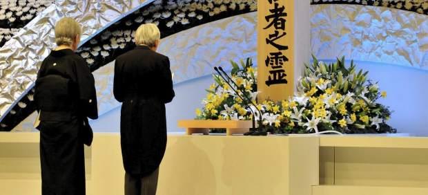 Acto con los emperadores de Japón