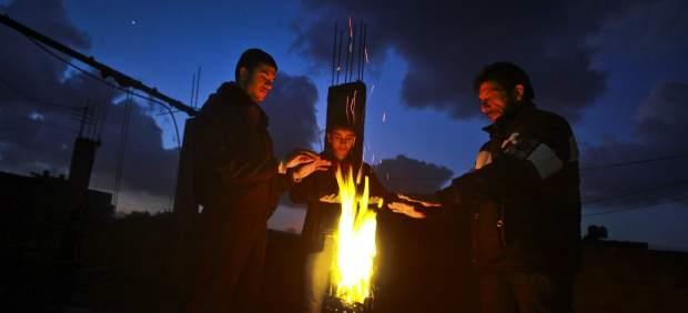 Hoguera en Gaza