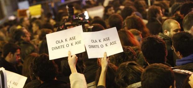 Protesta contra el PP