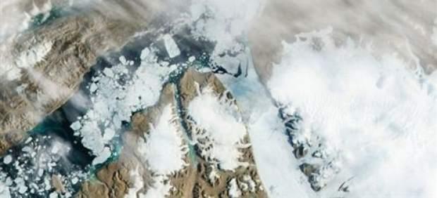 Imagen aérea de la Tierra.