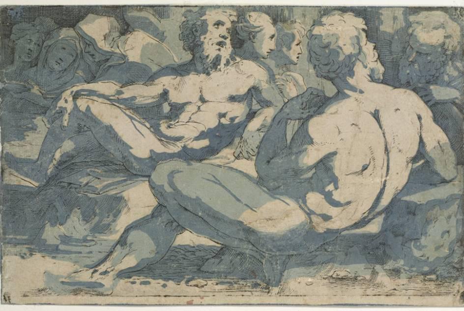 Grabado del sienés Domenico Beccafumi