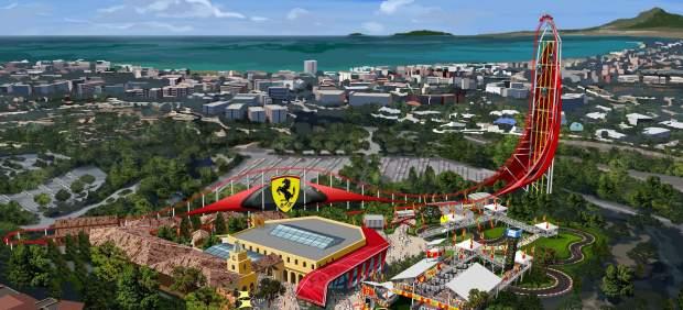 Reproducción del resort de Ferrari que se instalará e PortAventura en 2016.