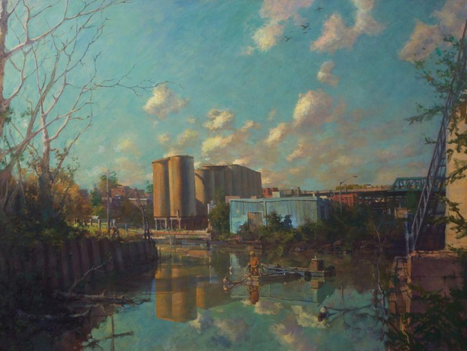 'Después de la tormenta', uno de los cuadros del artista estadounidense Derek Buckner