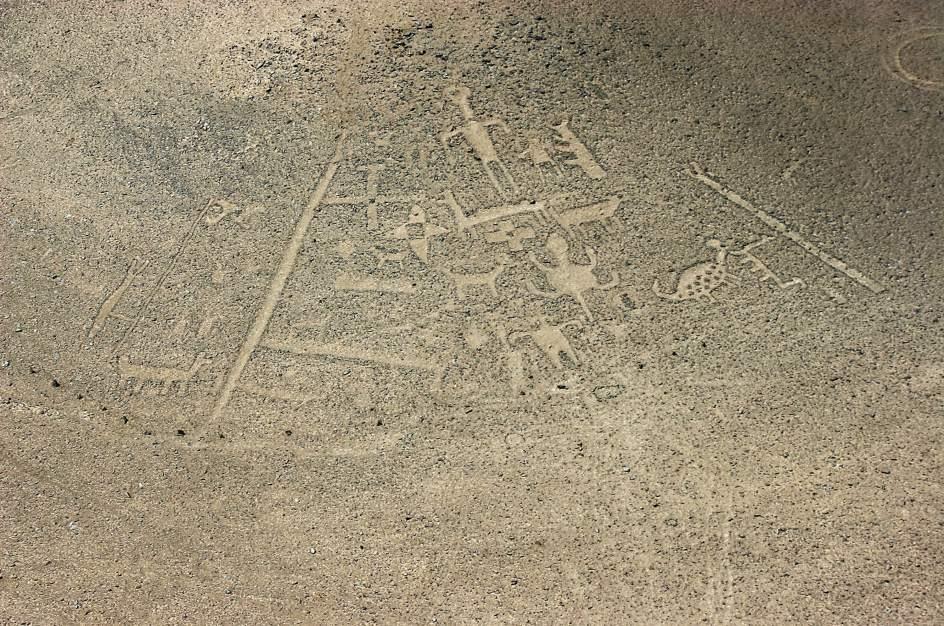 Geoglifos en el desierto de Atacama