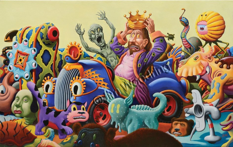'YOU DRIVE!''¡TÚ conduces!', pintura de Jim Woodring