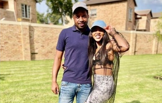 Itumeleng Khune and his sister, Mapula Khune, who was burnt beyond recognition.