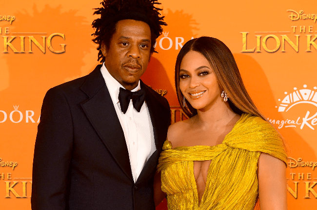 Jay-z and Beyonce attending Disney's The Lion King European Premiere held in Leicester Square, London