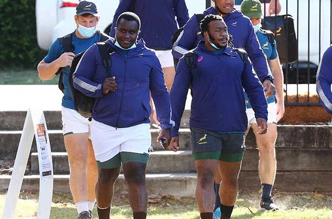 Trevor Nyakane and Joseph Dweba. (Photo by Tertius Pickard/Gallo Images)