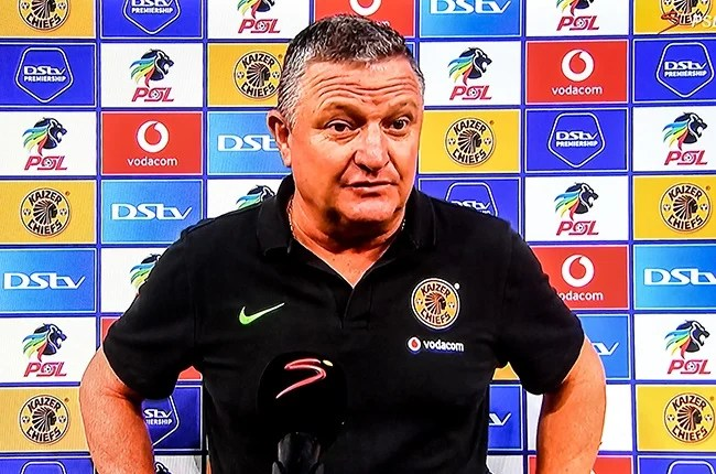 Gavin Hunt, coach of Kaizer Chiefs, after the Premiership match against Maritzburg on 9 January 2021 in Johannesburg.