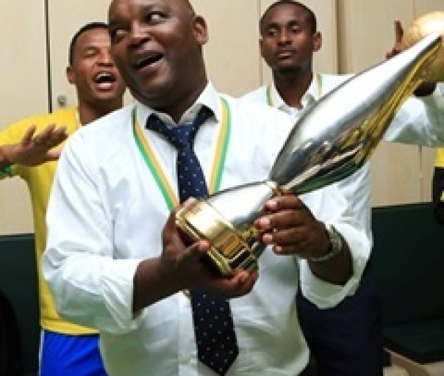 Pitso Mosimane Celebrates With His Players After Winning The Caf Champions League Gavin Barker Backpagepix