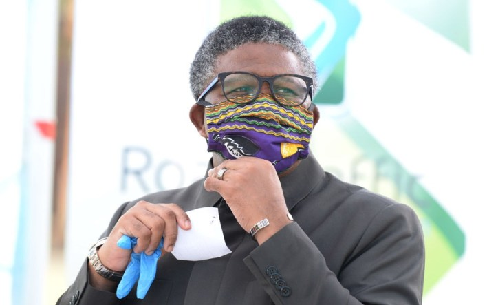 Transport Minister Fikile Mbalula in May 2020.