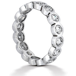 100 Ct Round Cut Bezel Set Diamond Eternity Wedding Band