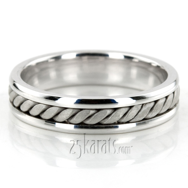Hand Braided Comfort Fit Wedding Band HM018 14K Gold