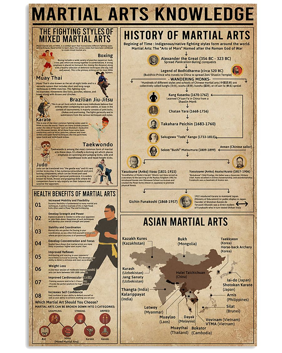 martial arts knowledge vertical poster
