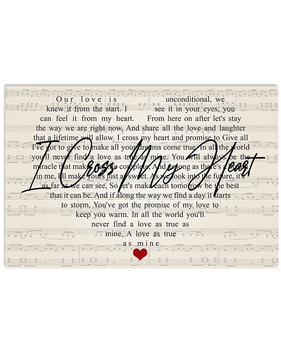 i cross my heart 17x11 poster size white