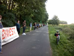 Fossil Free Germany at the human chain