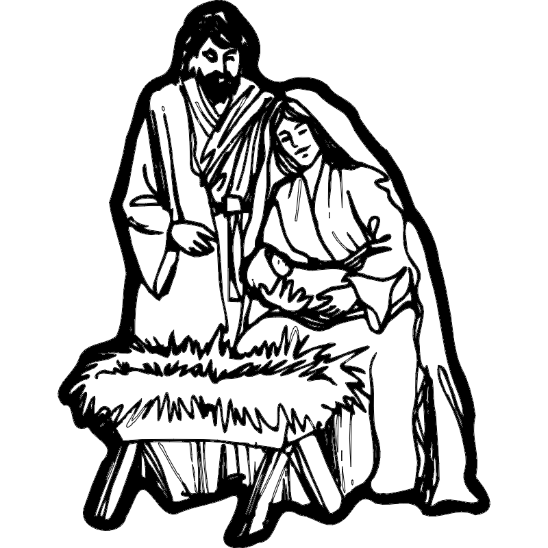 Download Nativity Scene dxf File Free Download - 3axis.co