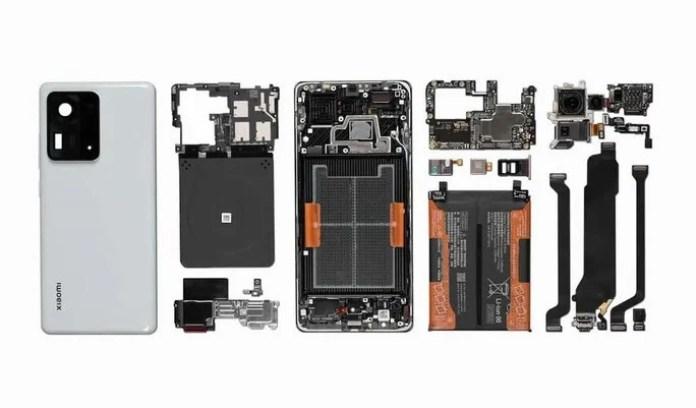 All components of Xiaomi Mi MIX 4