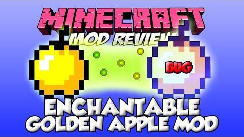 Enchantable Golden Apples Mod