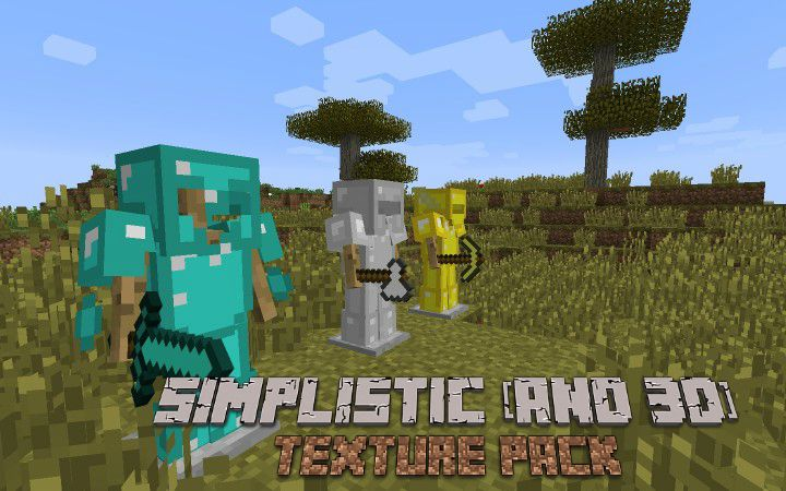 Simplistic and 3d resource pack