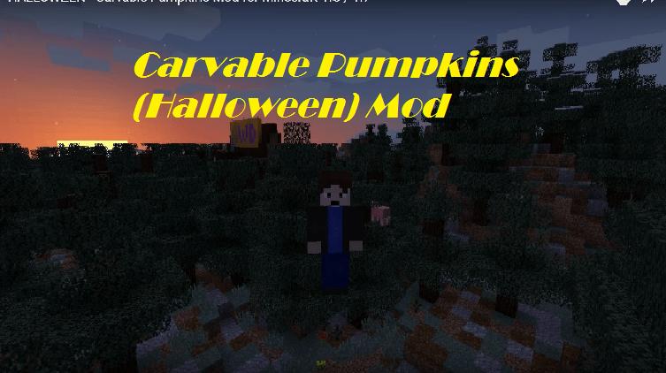 Carvable Pumpkins (Halloween) Mod