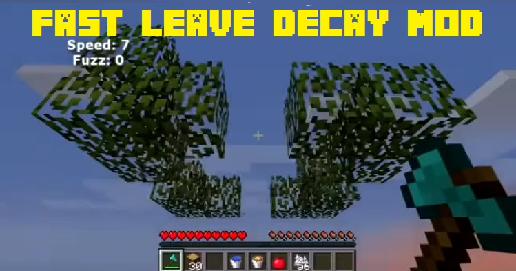 Fast Leave Decay Mod 1.15.2 1.12.2