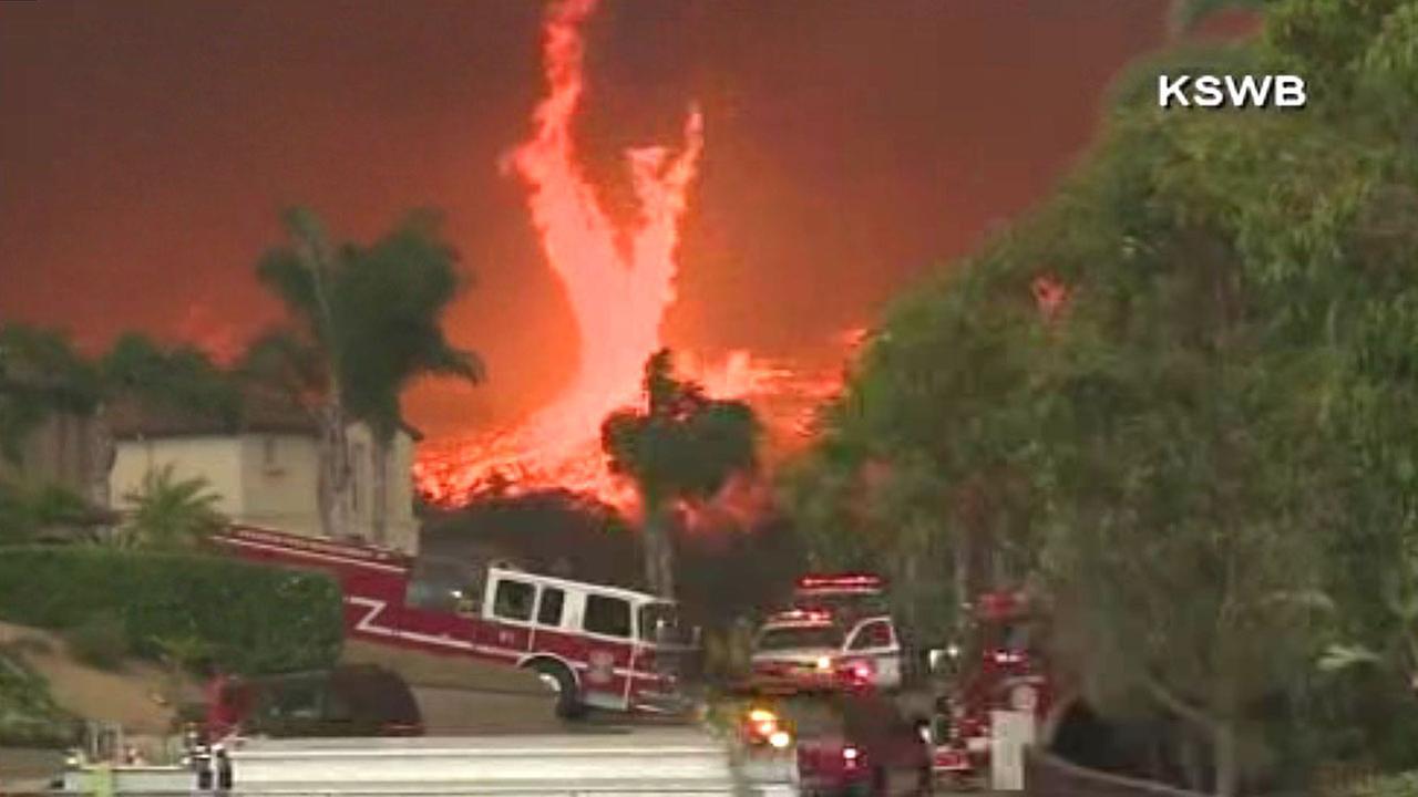 PHOTOS Firenado In San Diego County California