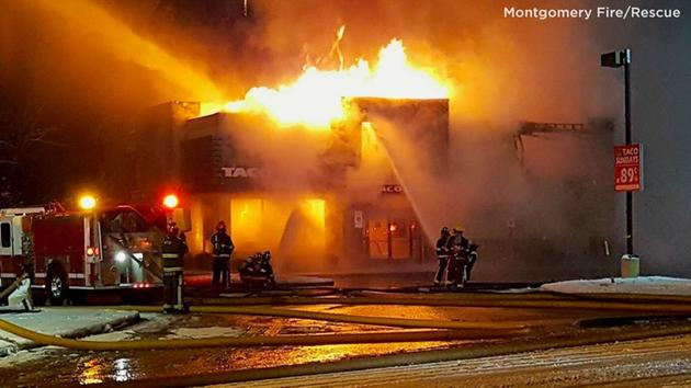Candlelight vigil held for Taco Bell restaurant destroyed by fire in Alabama