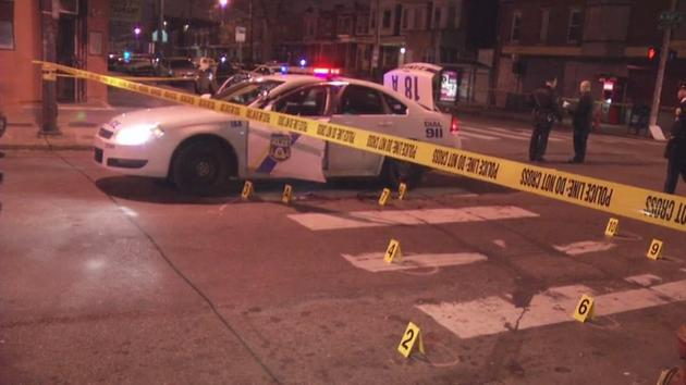 RAW VIDEO: Officer shot in West Philadelphia