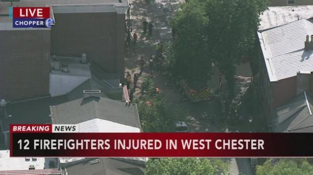12 firefighters injured in West Chester