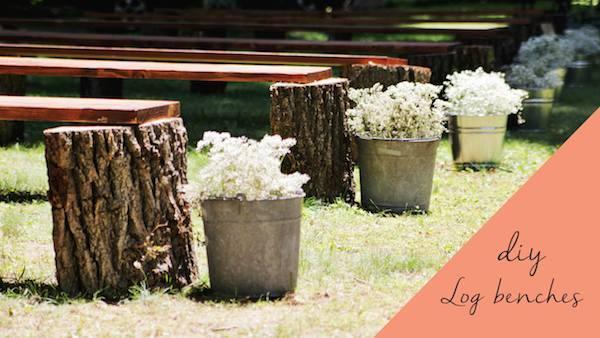 Inexpensive Diy Backyard Ideas  diy rustic wedding benches
