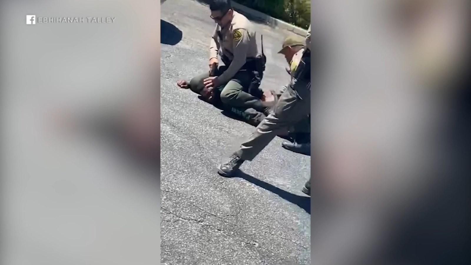 Viral video of Lancaster arrest sparks protest against LASD 5/8/21