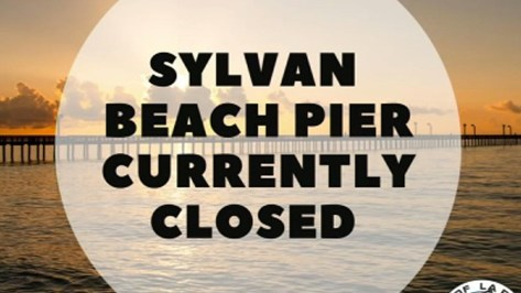 Sylvan Beach Pier temporarily closed due to high tides, city says