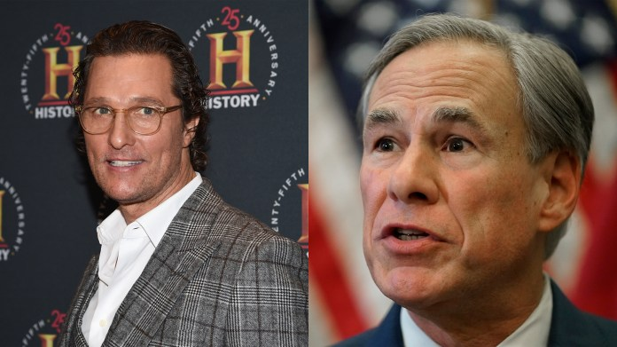 Poll shows Matthew McConaughey highly favorable for governor against Gov. Abbott