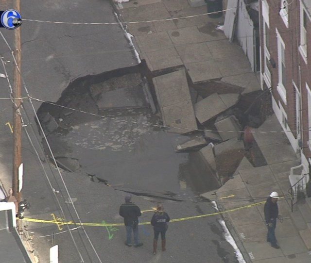 Large Sinkhole In Fishtown Forces Evacuations