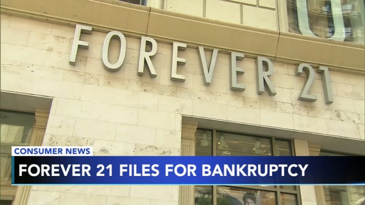 Image result for forever 21 files for bankruptcy