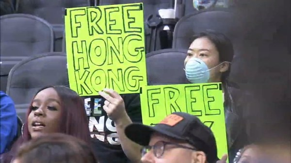 Sixers fan supporting Hong Kong ejected from preseason game amid NBA-China controversy