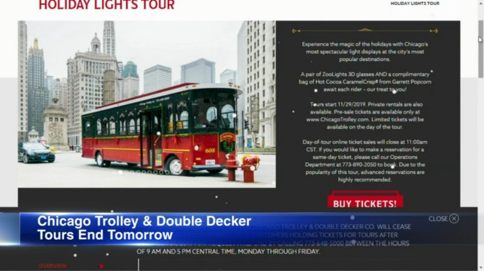 Chicago Trolley And Double Decker Company Closing After New Year S Eve Abc7 Chicago