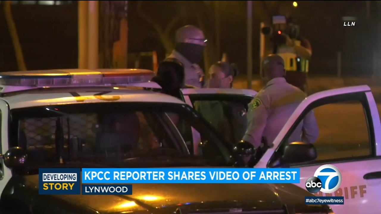 KPCC, reporter violently arressted by L.A County Sheriff's while covering protest