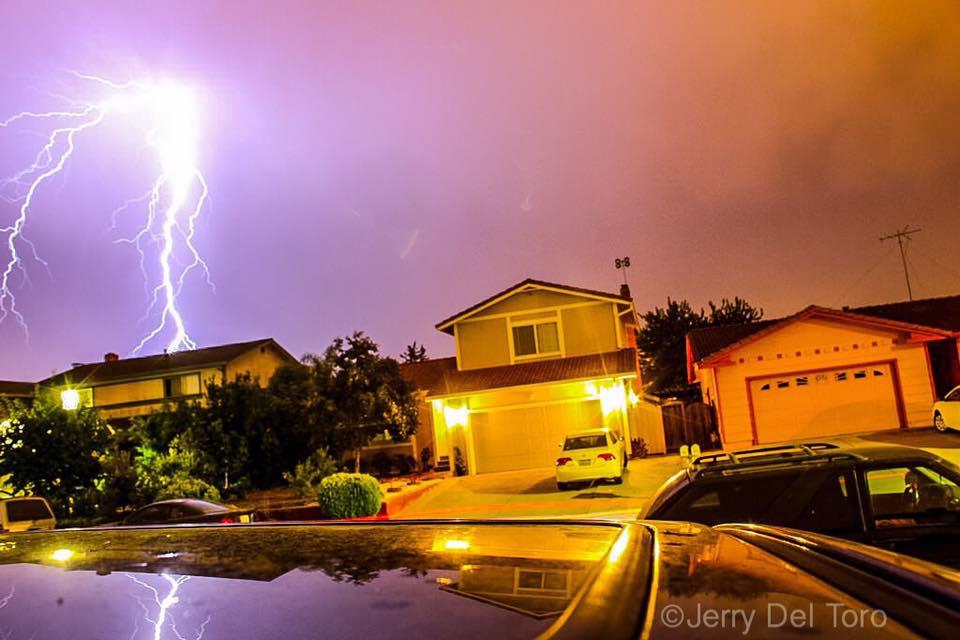 lightning strikes across the bay area