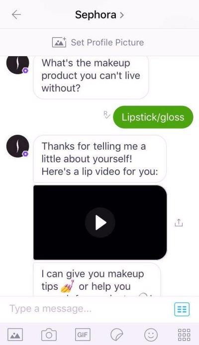 Chatbot e-commerce Sephora