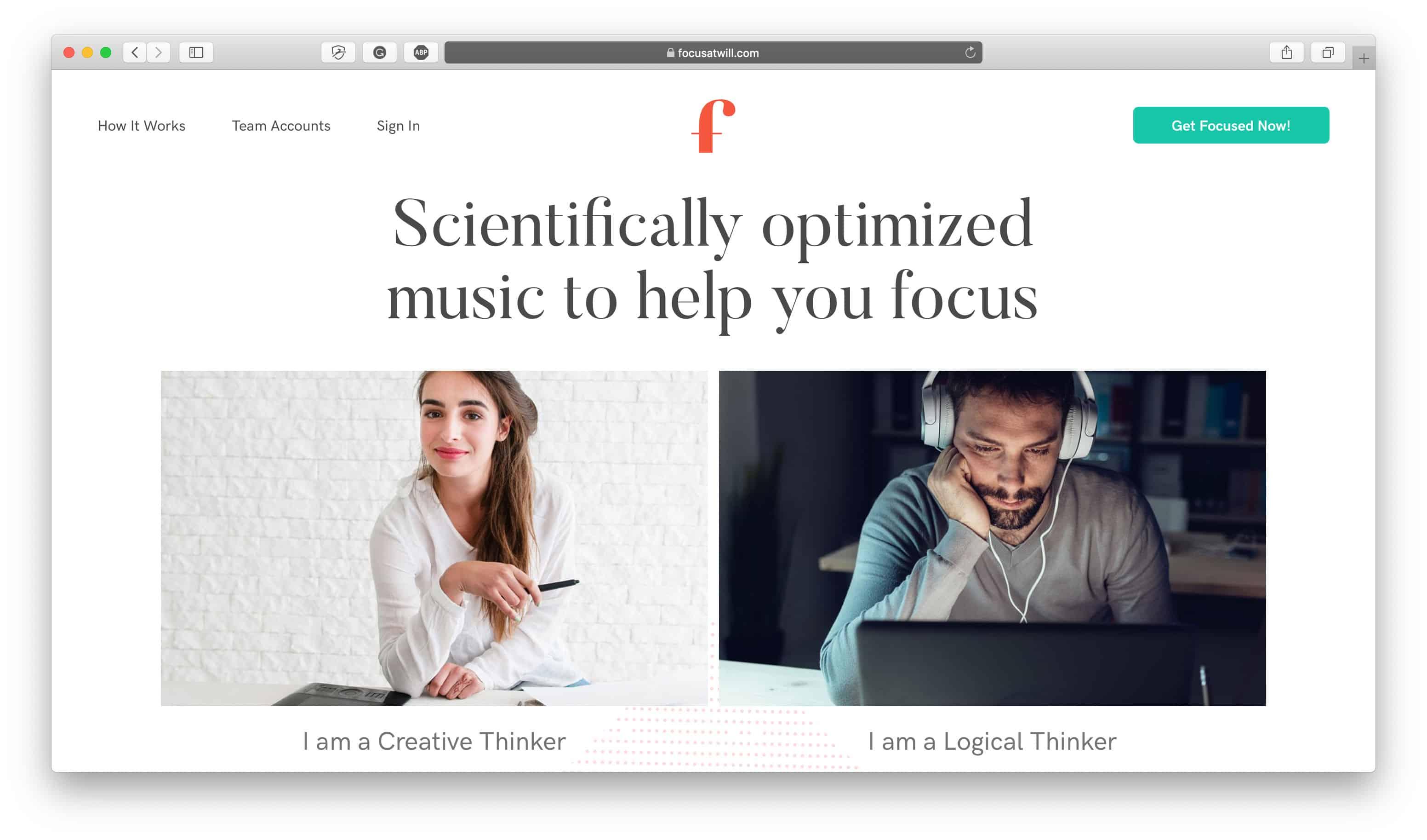 Focus@Will Time Management App