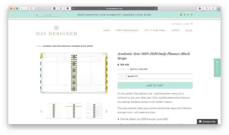 Day Planner Design per le aziende